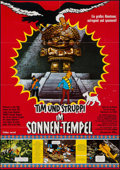 """Movie Posters:Animation, Tintin and the Temple of the Sun (Constantin-Film, 1970). German A1 (23"""" X 33""""). Animation.. ..."""
