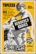 "Movie Posters:Exploitation, Heavenly Bodies!/Smoke and Flesh Combo (Eve Productions, R-1968).One Sheet (27"" X 41""). Exploitation.. ..."
