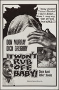 "Movie Posters:Blaxploitation, It Won't Rub Off, Baby! (Peppercorn-Wormser, 1967). One Sheet (27"" X 41""). Blaxploitation.. ..."