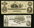 Confederate Notes:1862 Issues, T44 and T46 1862 Notes.. ... (Total: 2 notes)