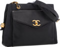 """Luxury Accessories:Bags, Chanel Black Caviar Leather Tote Bag with Gold Hardware. VeryGood Condition. 11"""" Width x 9"""" Height x 4"""" Depth. ..."""