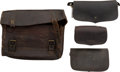 Military & Patriotic:Indian Wars, Lot of Three Cartridge Boxes and Unidentified Leather Bag....