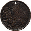 Military & Patriotic:Civil War, Dog Tag Belonging to James F. Ames, 5th New York Cavalry, Who Deserted and Rode With Colonel John S. Mosby....