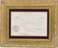 Military & Patriotic:Indian Wars, Ulysses S. Grant Presidential Postmaster Appointment Signed ...