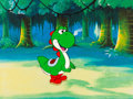 Animation Art:Production Cel, Super Mario World Yoshi Production Cel (DiC, 1991)....