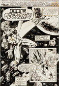 Original Comic Art:Splash Pages, Mike Esposito (attributed) Captain Marvel UK Comic Splash Page 1Original Art (Marvel UK, circa 1977)....