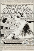 "Original Comic Art:Splash Pages, Herb Trimpe and Pablo Marcos Defenders #68 ""Valhalla CanWait"" Splash Page 1 Original Art (Marvel, 1978)...."