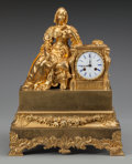 Clocks & Mechanical:Clocks, A LOUIS PHILIPPE GILT BRONZE AND BRONZE MANTLE CLOCK. Maker unknown, circa 1850. 17-7/8 x 14-1/4 x 5-3/4 inches (45.4 x 36.2...