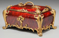 Decorative Arts, French, A LOUIS XV-STYLE TORTOISESHELL TABLE CASKET WITH GILT BRONZEMOUNTS, mid 19th century. 7 x 10-1/2 x 7 inches (17.8 x 26.7 x ...(Total: 2 Items)