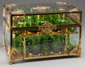 Paintings, A NAPOLEON III-STYLE GLASS AND BRASS CAVE A LIQUEUR, 20th century. 10-1/2 x 15-3/4 x 9-3/4 inches (26.7 x 40.0 x 24.8 cm). ...