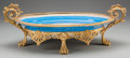 Ceramics & Porcelain, Continental, A SEVRES-STYLE PORCELAIN CENTER BOWL WITH GILT BRONZE MOUNTS, late19th century. Marks: (pseudo Sevres marks). 7-1/4 x 22-1/...