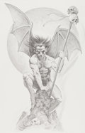 Original Comic Art:Splash Pages, Mike Hoffman Demon Pin-up Drawing Original Art (1997)....