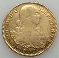 Colombia, Colombia: Charles IV gold 8 Escudos 1805 P-JT F/VF Cleaned,...