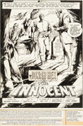 Original Comic Art:Splash Pages, E. R. Cruz Jonah Hex #29 Splash Page 1 Original Art (DC,1979)....