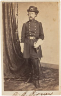 Autographs:Military Figures, Union General David B. Birney Carte de Visite Signed....