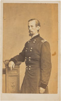 Autographs:Military Figures, Union General Michael Corcoran: Signed Card and Carte de Visite.... (Total: 2 Items)