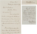 Autographs:Military Figures, Union General Henry J. Hunt: Group of Three Signed Items....