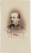 Autographs:Military Figures, Union General William Dwight Carte de Visite Signed,circa 1864....