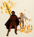 Animation Art:Production Cel, The Lord of the Rings Aragorn and Legolas Production Cel(Bakshi/United Artists, 1978)....