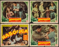 "Movie Posters:Adventure, Nabonga (PRC, 1944). Title Lobby Card & Lobby Cards (3) (11"" X14""). Adventure.. ... (Total: 4 Items)"