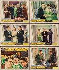 "Movie Posters:Crime, Slightly Honorable (United Artists, 1939). Title Lobby Card &Lobby Cards (5) (11"" X 14""). Crime.. ... (Total: 6 Items)"