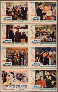 "Winter Carnival (United Artists, 1939). Lobby Card Set of 8 (11"" X 14""). Romance. ... (Total: 8 Items)"