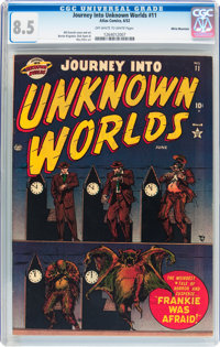 Journey Into Unknown Worlds #11 White Mountain pedigree (Atlas, 1952) CGC VF+ 8.5 Off-white to white pages