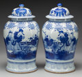 Asian:Chinese, A PAIR OF CHINESE BLUE AND WHITE PORCELAIN GINGER JARS. 18-1/4inches high (46.4 cm). ... (Total: 2 Items)