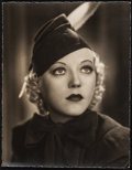 "Movie Posters:Comedy, Marion Davies in Page Miss Glory by James Manatt (Warner Brothers, 1935). Portrait Photo (10.5"" X 13.5""). Comedy.. ..."
