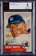 Baseball Cards:Singles (1950-1959), 1953 Topps Mickey Mantle #82 BVG EX 5....