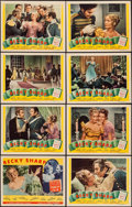 "Movie Posters:Drama, Becky Sharp (Film Classics, R-1944). Signed Lobby Card Set of 8(11"" X 14""). Drama.. ... (Total: 8 Items)"
