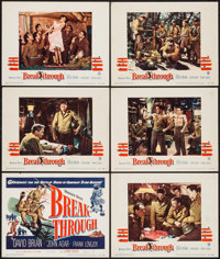 "Breakthrough (Warner Brothers, 1950). Title Lobby Card & Lobby Cards (5) (11"" X 14""). War. ... (Total:..."