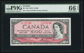 Canadian Currency: , BC-44d $1000 1954. ...