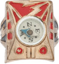 "Premiums:Radio, Captain Marvel ""Japan Back"" Compass Ring Radio Premium (1940s) Condition: VF...."