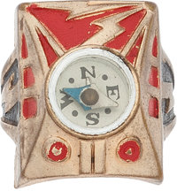 "Captain Marvel ""Japan Back"" Compass Ring Radio Premium (1940s) Condition: VF"