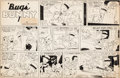 Original Comic Art:Comic Strip Art, Chase Craig (attributed) Bugs Bunny Sunday Comic Strip Original Art (NEA, 1942)....