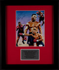 Boxing Collectibles:Autographs, Mike Tyson Signed Print....
