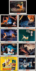 "Movie Posters:Animation, Bambi (Buena Vista, R-1975). Lobby Card Set of 9 (11"" X 14""). Animation.. ... (Total: 9 Items)"