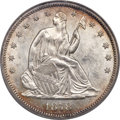 Seated Half Dollars, 1878-CC 50C WB-101, Die Pair 1, R.4 -- Scratched -- NCS. Unc Details....