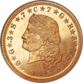 Proof Four Dollar Gold Pieces, 1880 $4 Flowing Hair, Judd-1657, Pollock-1857, R.6, PR65 NGC. CAC....