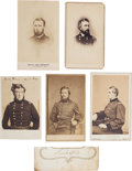 Photography:CDVs, Collection of Cartes de Visite of Four Union Generals and One Gettysburg Casualty.... (Total: 6 )