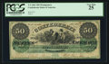 "Confederate Notes:1861 Issues, Manuscript Endorsement ""A.J. Guirot"" T4 $50 1861 PF-1 Cr. 4.. ..."