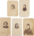Photography:CDVs, Mary Todd Lincoln: Five Cartes de Visite.... (Total: 5 Items)