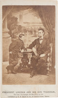 Photography:CDVs, Abraham and Tad Lincoln Carte de Visite....