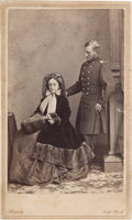Photography:CDVs, Union Cavalry General Judson Kilpatrick Carte de Visite, a Formal Studio Pose With His Wife. ...
