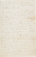 Autographs:Military Figures, Confederate General James Longstreet War-Dated Autograph Letter Signed...