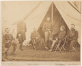 Miscellaneous:Ephemera, Union Generals George Meade, Gouverneur K. Warren, William French,Henry J. Hunt, Andrew Humphreys, and George Sykes Albumen P...