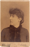 Miscellaneous:Ephemera, Confederate Spy Belle Boyd Cabinet Card Signed....