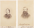 Autographs:Military Figures, Union General John C. Robinson Carte de Visite Signed with a Carte de Visite of His Wife....