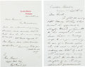 Autographs:U.S. Presidents, President Ulysses S. Grant and General Orville E. Babcock: Two Autograph Letters Signed to General Thomas H. Ruger....